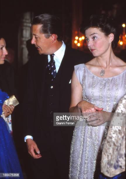 Prince Carlos of Borbon Dos Sicilias and his wife Princess Anne of Orleans Madrid Castilla La Mancha Spain