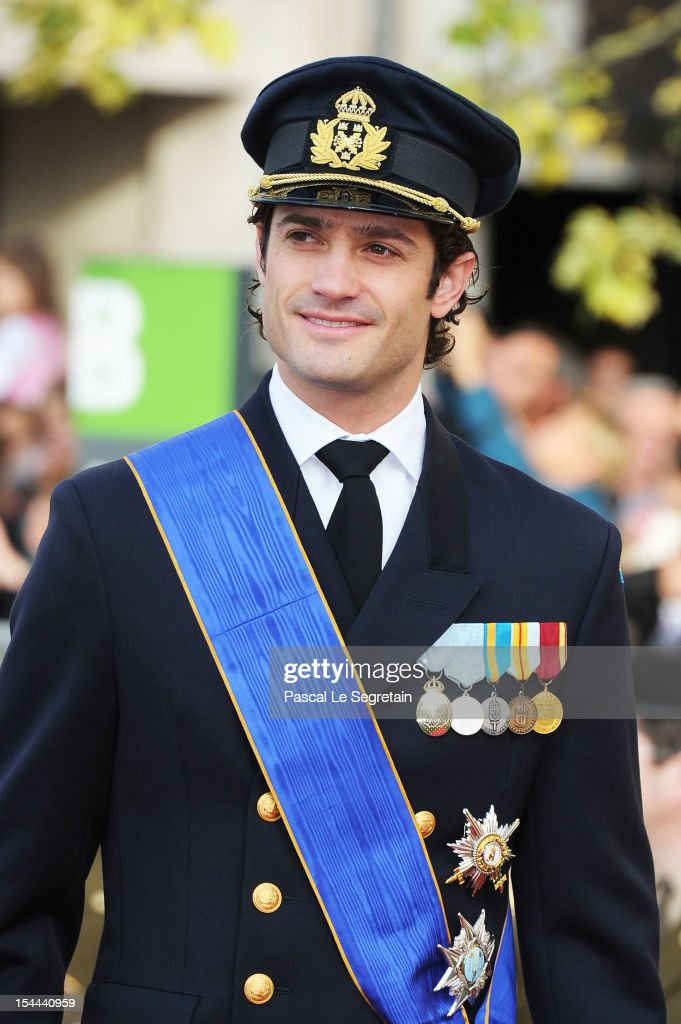 Prince Carl-Philip of Sweden attends the wedding ceremony of Prince Guillaume Of Luxembourg and Princess Stephanie of Luxembourg at the Cathedral of our Lady of Luxembourg on October 20, 2012 in Luxembourg, Luxembourg. The 30-year-old hereditary Grand Duke of Luxembourg is the last hereditary Prince in Europe to get married, marrying his 28-year old Belgian Countess bride in a lavish 2-day ceremony.