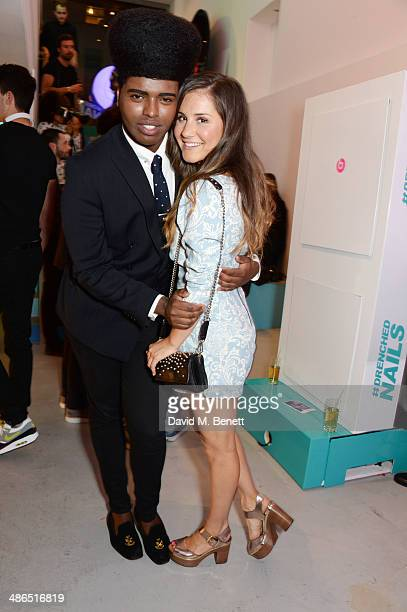 Prince Cassius and Electra Formosa attend the Beats by Dr Dre Drenched in Colour nail event on April 24 2014 in London England
