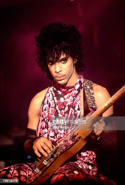 Prince celebrating his birthday and the nrelease of Purple Rain at 1st Avenue on 6/7/84 in Minneapolis Mn