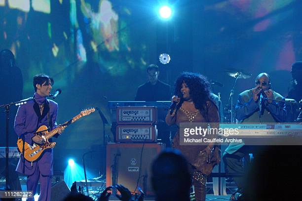 Prince Chaka Khan and Stevie Wonder perform 'I Feel for You'