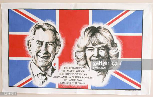 Prince Charles and Camilla Parker Bowles wedding souvenirs Due to the late change of date in Prince Charles wedding to Camilla Parker Bowles there...