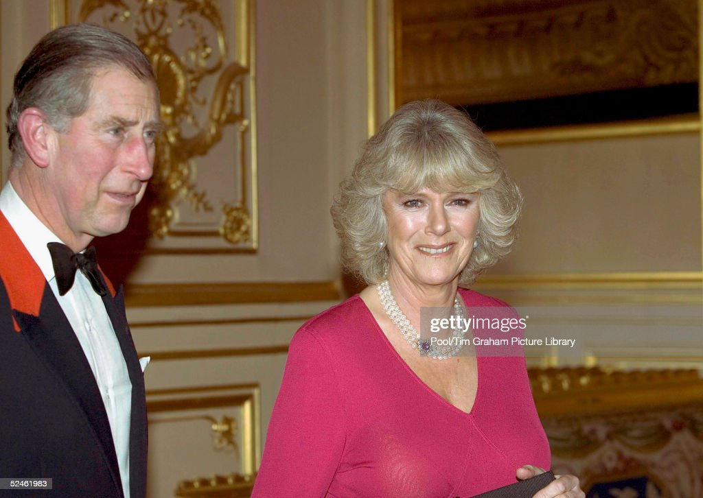 HRH Prince Charles and Camilla Parker-Bowles attend an official dinner engagement, following the announcement that they will marry, February 10, 2005, Windsor, England.
