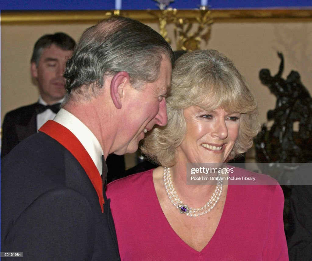HRH Prince Charles and Camilla Parker-Bowles attend an official dinner engagement following today's announcement that they will marry February 10, 2005, at Windsor Castle, Windsor, England.