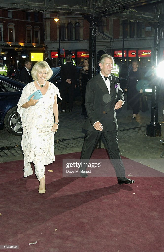 Prince Charles and Camilla Parker-Bowles attend the Royal Gala Premiere of Lord Andrew Lloyd Webber's new musical 'The Woman In White' at the Palace Theatre, Shaftesbury Avenue on September 13, 2004 in London.