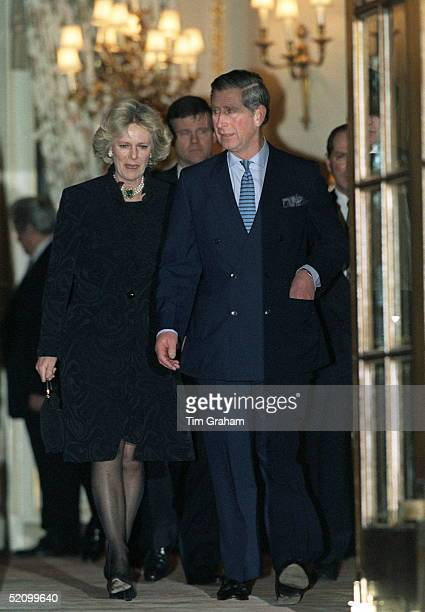 Prince Charles And Camilla Parkerbowles Leaving The Ritz Hotel In London After Attending A 50th Birthday Party For Camilla's Sister