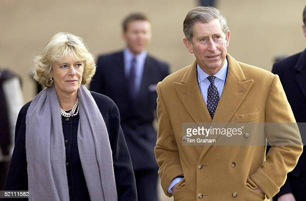 Prince Charles And Camilla Parkerbowles Walking Together In Green Park London On Their Way To Host Prince Charles' Staff Christmas Lunch At The Ritz...