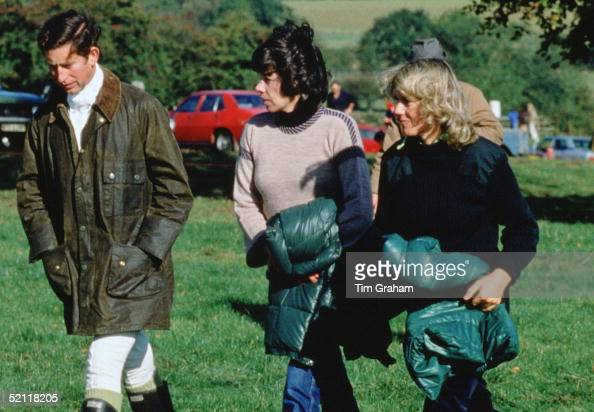 Prince Charles And Camilla Parkerbowles Walking With Their Friend Lady Sarah Keswick In 1979 Special Fee Applies