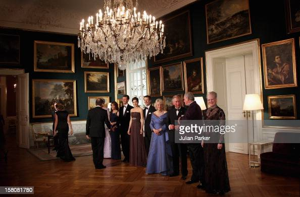 Prince Charles And Camilla The Duchess Of Cornwall Attending An Official Dinner At Amalienborg Palace Denmark During The Prince Of Wales And Duchess...
