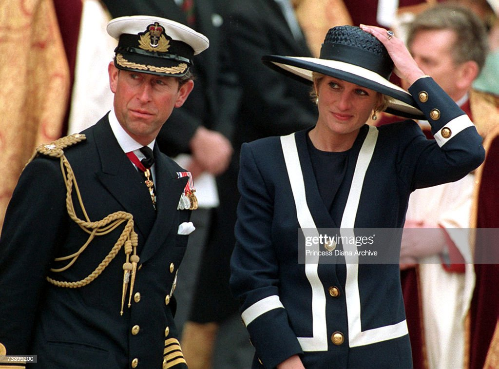 <a gi-track='captionPersonalityLinkClicked' href=/galleries/search?phrase=Prince+Charles+-+Prince+of+Wales&family=editorial&specificpeople=160180 ng-click='$event.stopPropagation()'>Prince Charles</a> and his wife <a gi-track='captionPersonalityLinkClicked' href=/galleries/search?phrase=Princess+Diana&family=editorial&specificpeople=167066 ng-click='$event.stopPropagation()'>Princess Diana</a> (1961 - 1997) attend the Atlantic memorial service at Liverpool Cathedral, May 1993.