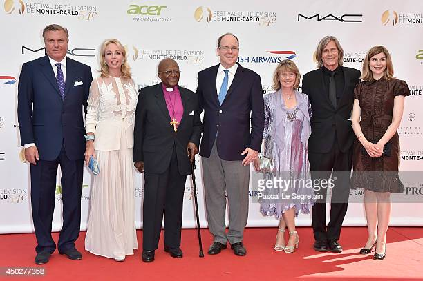 Prince Charles and Princess Camilla of Bourbon of the two Sicilies Desmond Tutu Prince Albert II of Monaco Dawn Engle Ivan Suvanjieff and Claudia...