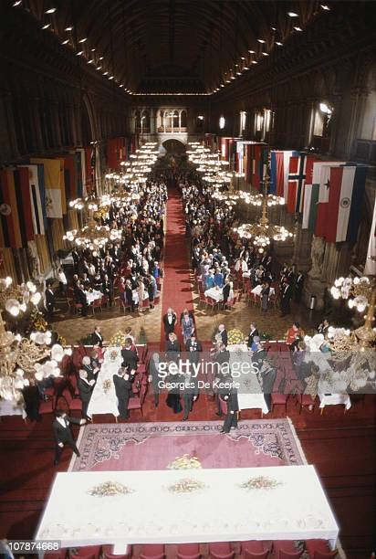 Prince Charles and Princess Diana at a state reception in Austria 16th April 1986