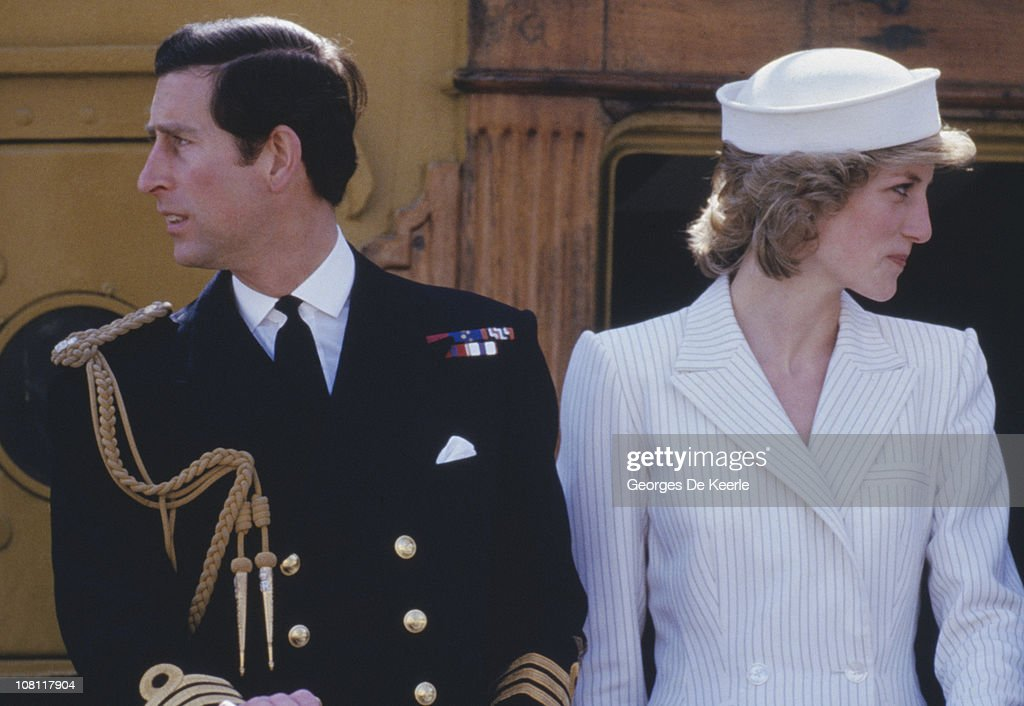 Prince Charles and Princess Diana (1961 - 1997) in Italy, 20th April 1985.