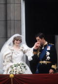 Prince Charles And Princess Diana On The Balcony Of Buckingham Palace On Their Wedding Day