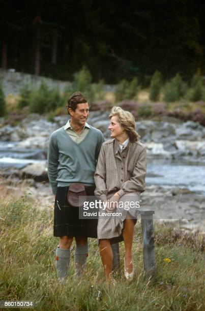 Prince Charles and Princess Diana on their honeymoon on August 19 1981 in BalmoralScotland