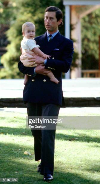 Prince Charles And Princess Diana With Their Baby Son Prince William At A Photocall During Their Official Tour Of New Zealand