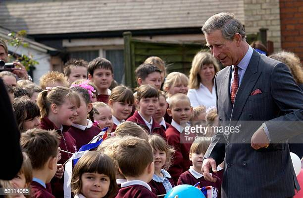 Prince Charles As President Of The Prince's Foundation For The Built Environment Visits A Regeneration Project In Essex To Show His Support And Chats...