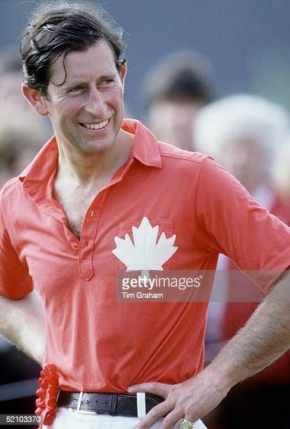 Prince Charles At Polo Playing For The Maple Leaf Team