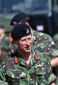 Prince Charles Colonelinchief Of The Parachute Regiment And The Army Air Corps Visiting Wattisham Airfield In Suffolk For The Launch Of The 16 Air...