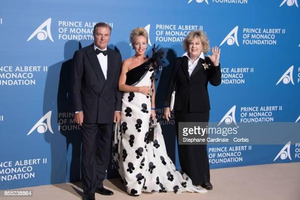 Prince Charles de Bourbon des Deux Siciles Camilla de Bourbon des Deux Siciles with her mother Edy Vessel attend the Inaugural 'MonteCarlo Gala For...