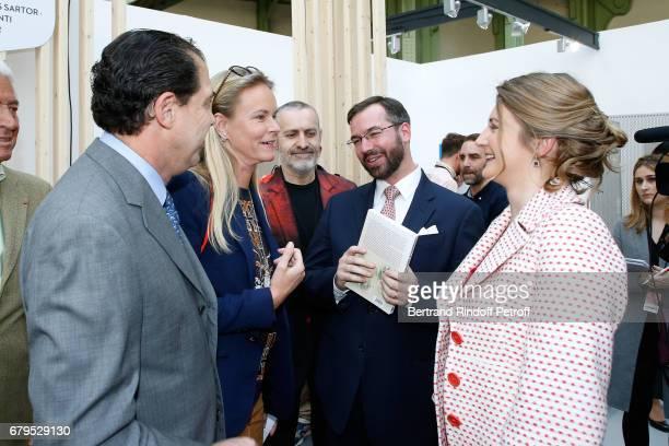 Prince Charles de Bourbon Parme Princess Constance de Bourbon Parme their nephew GrandDuc Heritier Guillaume and GrandeDuchesse Heritiere Stephanie...