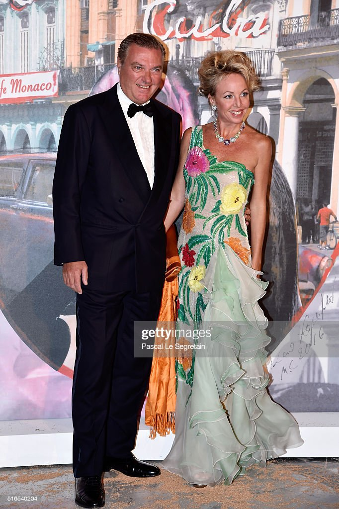 Prince Charles of Bourbon Two-Sicilies and Princess Camilla of Bourbon Two-Sicilies attend The 62nd Rose Ball To Benefit The Princess Grace Foundation at Sporting Monte-Carlo on March 19, 2016 in Monte-Carlo, Monaco.