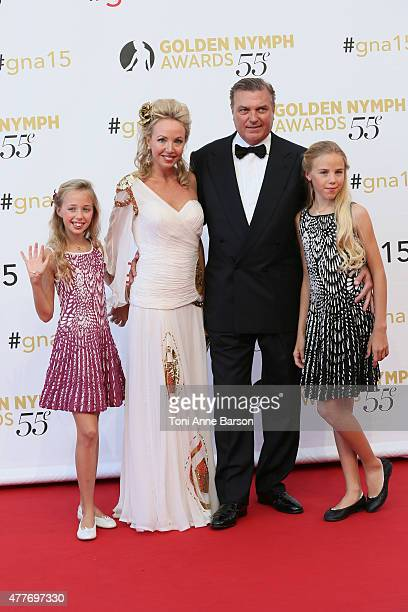 Prince Charles of BourbonTwo Sicilies and his wife Princess Camilla of BourbonTwo Sicilies pose with their daughters Princess Maria Chiara and...