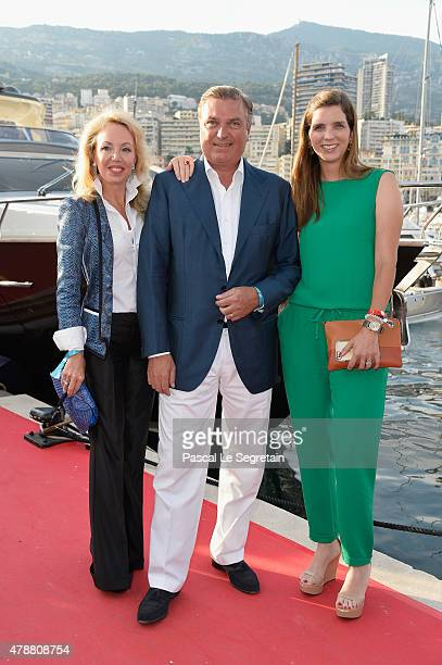 Prince Charles of Bourbontwo Sicilies Princess Camilla of Bourbontwo Sicilies and Maria Marguerita Vargas attend the 10th International MonteCarlo...