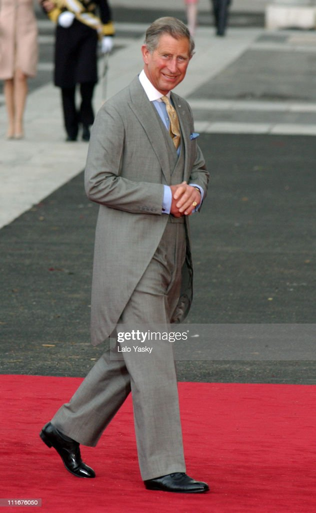 Prince Charles of England during Royal Wedding Between Prince Felipe of Spain and Letiza Ortiz at Alumudena Cathedral in Madrid, Spain.