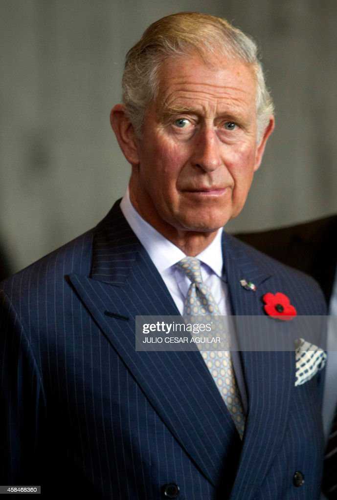 Prince Charles of Wales is seen during an official welcome at the Parque Fundidora in Monterrey Mexico on November 5 2014 The British Royals are in...