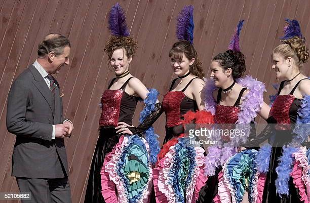 Prince Charles On A Tour Of Canada Meeting Klondike Dancers In Mayo Called The Dusty Diamond Dancers They Were Traditional In The Gold Rush Era