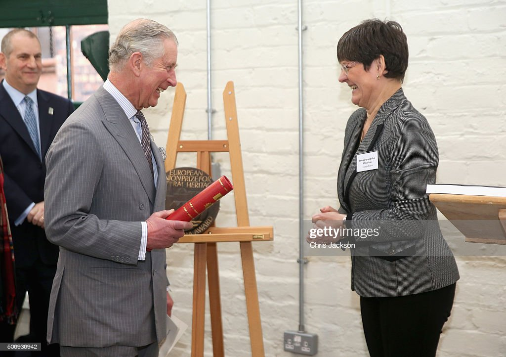 Prince Charles Patron and Founder of the Prince's Regeneration Trust is presented with the Europa Nostra Award for Cultural Heritage as he visits...