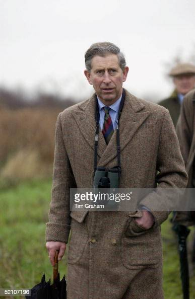 Prince Charles Patron Of The Wildlife Trusts Visiting The Norfolk Wildlife Trust Hickling Broad Norfolk Walking With Binoculars