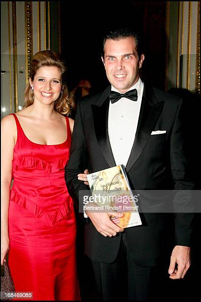 Prince Charles Philippe of Orleans and Duchess Diane De Cadaval Gala dinner for the international night of childhood 2006 at the 'Chateau De...