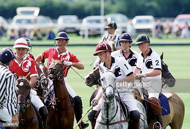 Prince Charles Playing In A Polo Match At Windsor Against James Hewitt On The Opposing Team