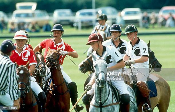 Prince Charles Playing Polo With Major James Hewitt At The Royal Berkshire Polo Club