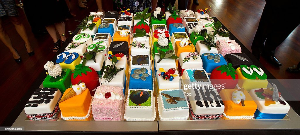 Prince Charles, Prince of Wales' 64th birthday cake decorations at Government House on November 14, 2012 in Wellington, New Zealand. The Royal couple are in New Zealand on the last leg of a Diamond Jubilee that takes in Papua New Guinea, Australia and New Zealand.