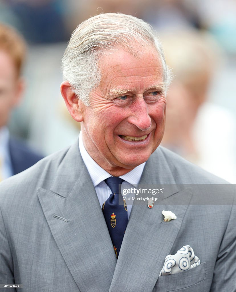 Prince Charles, Prince of Wales accompanied by Camilla, Duchess of Cornwall visits Padstow on day 1 of their annual summer tour of Cornwall on July 20, 2015 in Padstow, England.