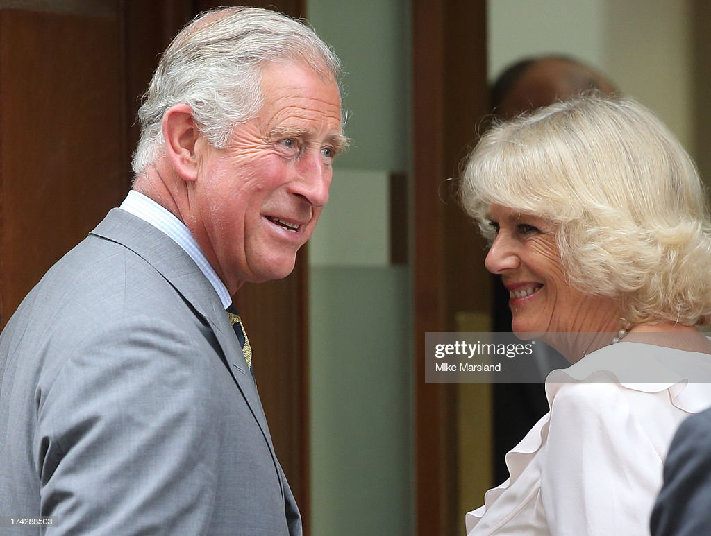 Prince Charles, Prince of Wales and Camilla, Duchess of Cornwall arrive to visit the Duke and Duchess of Cambridge and their newborn baby son at the Lindo Wing, St Mary's Hospital on July 23, 2013 in London, England. Catherine, Duchess of Cambridge yesterday gave birth to a boy at 16.24 BST and weighing 8lb 6oz, with Prince William, Duke of Cambridge at her side. The baby, as yet unnamed, is third in line to the throne and becomes the Prince of Cambridge.