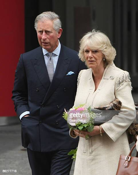 Prince Charles Prince of Wales and Camilla Duchess of Cornwall arrive at the British Embassy on April 29 2009 in Berlin Germany Prince Charles and...