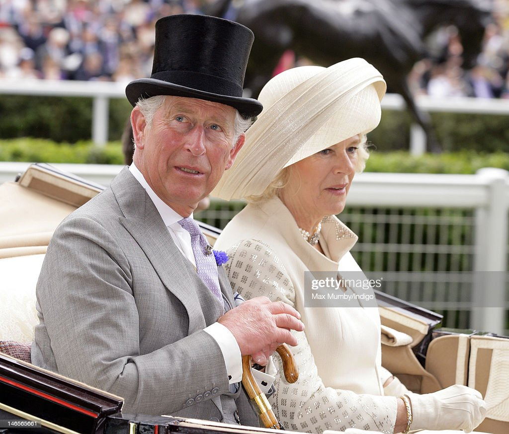 <a gi-track='captionPersonalityLinkClicked' href=/galleries/search?phrase=Prince+Charles&family=editorial&specificpeople=160180 ng-click='$event.stopPropagation()'>Prince Charles</a>, Prince of Wales and <a gi-track='captionPersonalityLinkClicked' href=/galleries/search?phrase=Camilla+-+Duchess+of+Cornwall&family=editorial&specificpeople=158157 ng-click='$event.stopPropagation()'>Camilla</a>, Duchess of Cornwall attend day 1 of Royal Ascot at Ascot Racecourse on June 19, 2012 in Ascot, England.