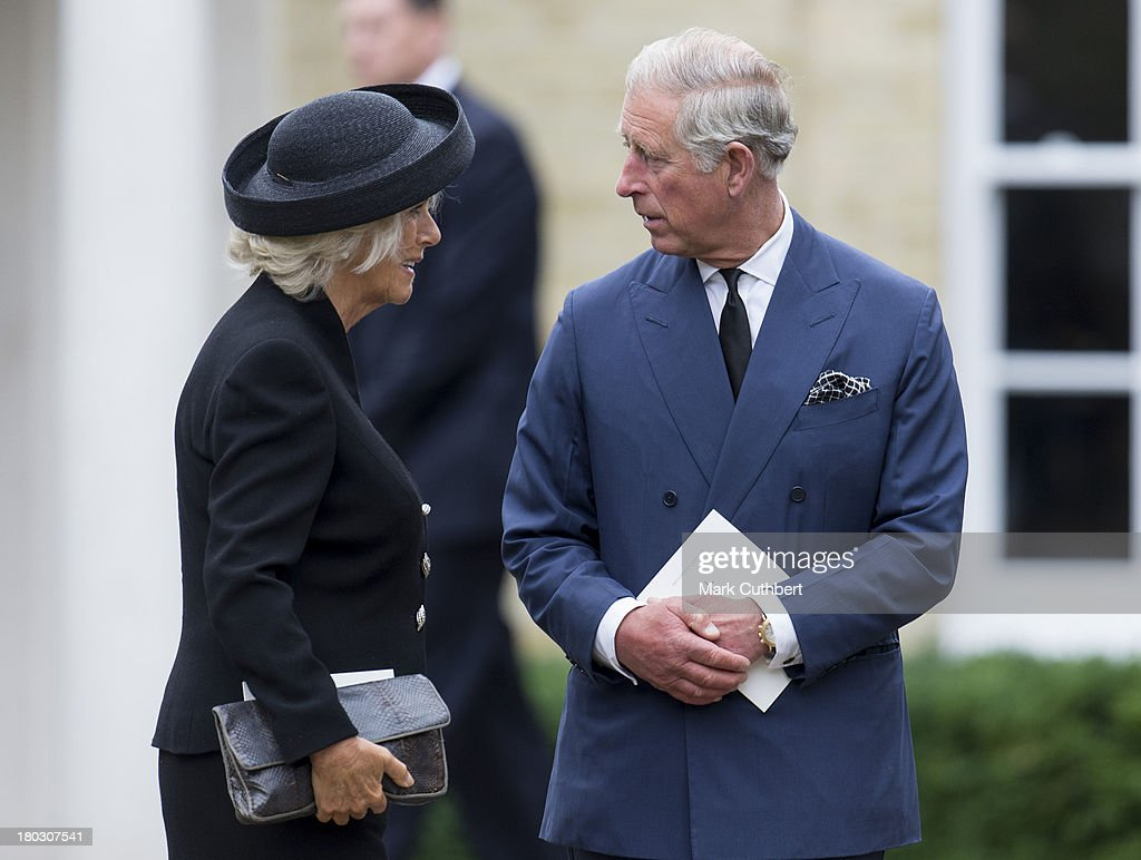 Prince Charles, Prince of Wales and Camilla, Duchess of Cornwall attend a requiem mass for Hugh van Cutsem who passed away on September 2nd 2013 at Brentwood Cathedral on September 11, 2013 in Brentwood, England.