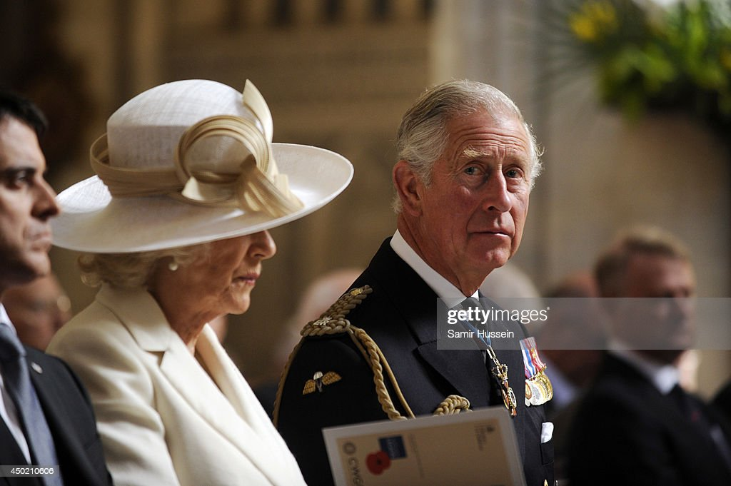 Prince Charles, Prince of Wales and Camilla, Duchess of Cornwall attend a Service of Remembrance at Bayeux cathedral during D-Day 70 Commemorations on June 6, 2014 in Bayeux, France.