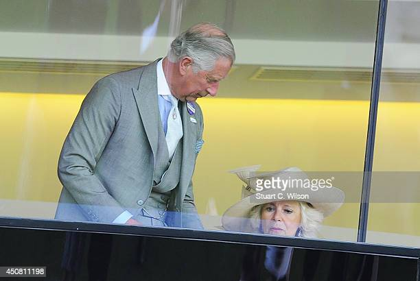 Prince Charles Prince of Wales and Camilla Duchess of Cornwall attend Day 2 of Royal Ascot at Ascot Racecourse on June 18 2014 in Ascot England