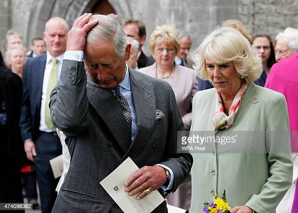 Prince Charles Prince of Wales and Camilla Duchess of Cornwall attend a ceremony to plant a London Oak tree after a service of peace and...