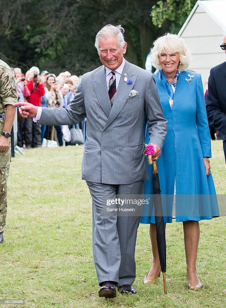 Prince Charles Prince of Wales and Camilla Duchess of Cornwall attend Sandringham Flower Show at Sandringham on July 29 2015 in King's Lynn England