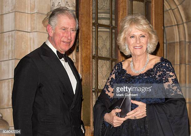 Prince Charles Prince of Wales and Camilla Duchess of Cornwall attend a reception and dinner for supporters of The British Asian Trust at Natural...