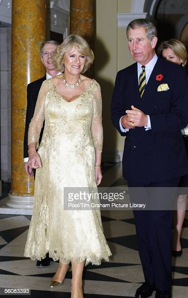Prince Charles Prince of Wales and Camilla Duchess of Cornwall attend a reception at the Ambassador's Residence on November 3 2005 in Washington The...