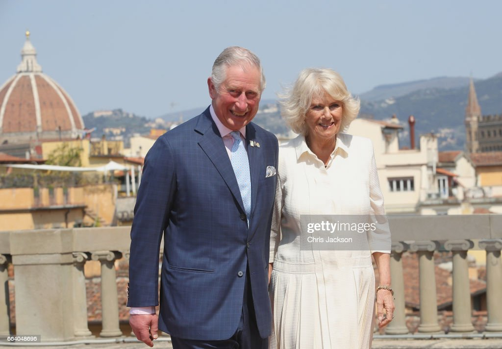 Prince Charles, Prince of Wales and Camilla, Duchess of Cornwall attend an event for the Italian Wool Industry and the Prince of Wales's Campaign for Wool at Palazzo Pitti, on April 3, 2017 in Florence, Italy. Their Royal Highnesses will be introduced to representatives from Woolmark and the Campaign for Wool, view product demonstrations, learn about innovative wool techniques and be given a tour of the palace's Art Gallery. The Prince of Wales launched the Campaign for Wool in January 2010 as an initiative to expand the market for British and Commonwealth wool and promote awareness of its environmental benefits.