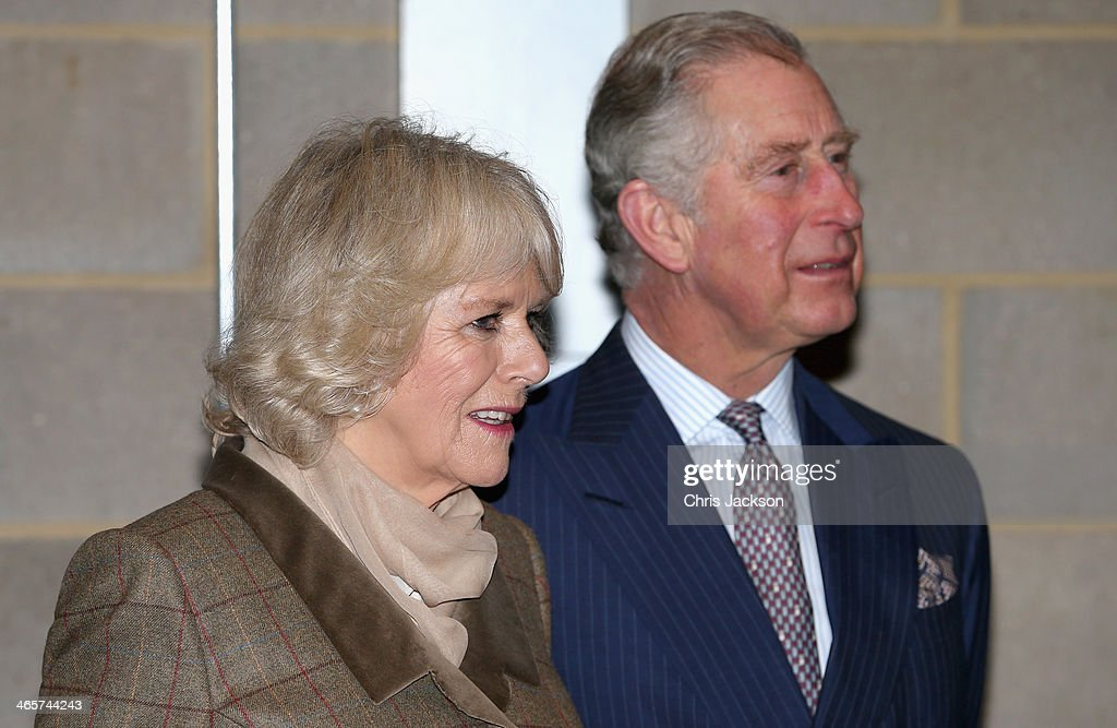 Prince Charles, Prince of Wales and Camilla, Duchess of Cornwall during an official visit to Essex and High House Production Park on January 29, 2014 in Purfleet, England. High House Production Park is a world-class centre for technical skills, crafts and artistic production and training, which is home to the Royal Opera House's Bob and Tamar Manoukian Production workshop, the National Skills Academys Backstage Centre and Acme High House Artists Studios.